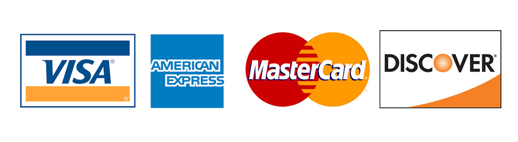 All major credit cards available