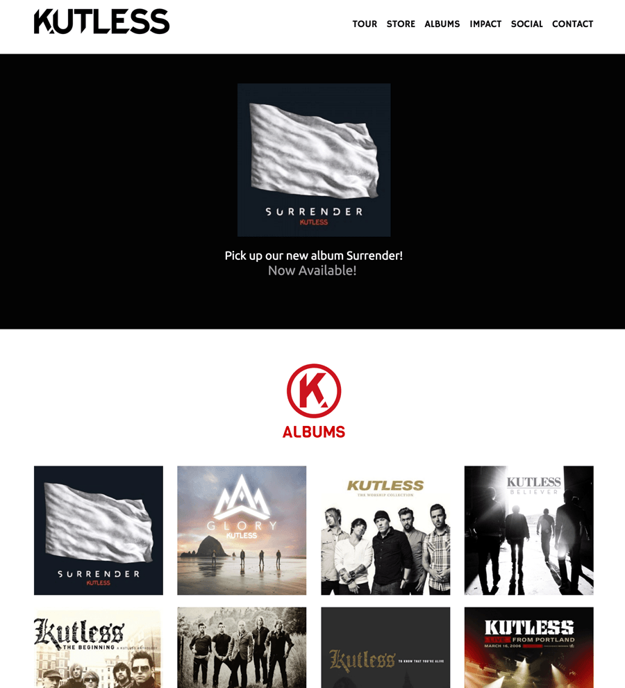 Kutless uses Sharefaith Church Websites!